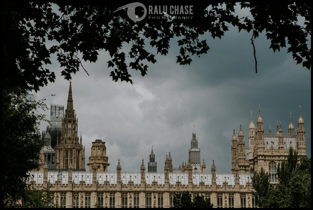 a photograph of London's Parliament building on a cloudy London day