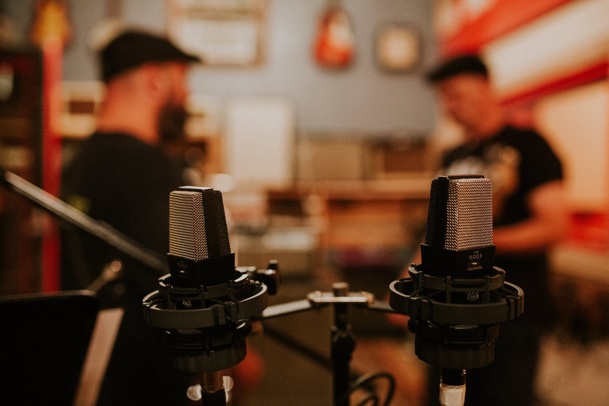 microphone details during a branding photo session