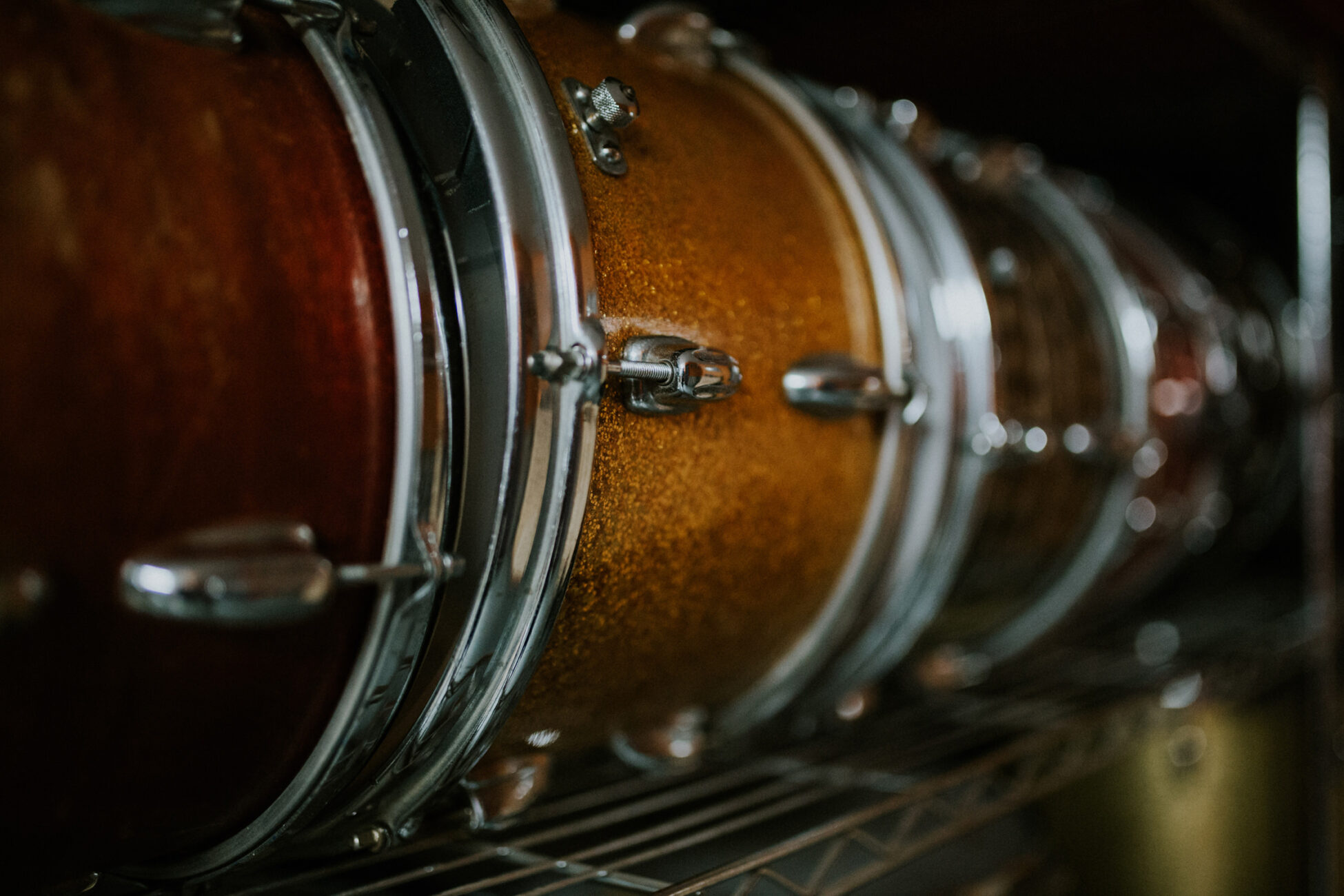 details of drums taken during a branding photography session in essex